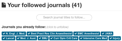 How to follow extra journals on metajournal