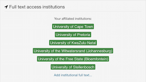 metajournal full-text access for South African medical schools