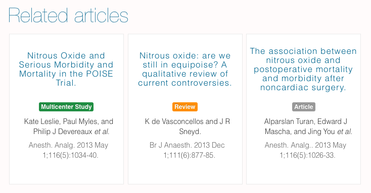 Find and read related medical articles and papers on metajournal