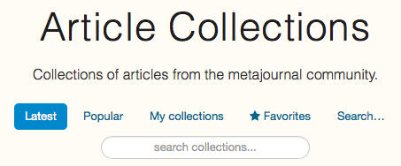 Search for collections of medical articles on metajournal